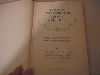 """1927 General Electric Cookbook """"To the Modern American Homemaker""""..HB..142pgs."""