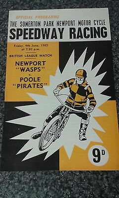 speedway programme 1965  newport  v  poole (  filled in  )