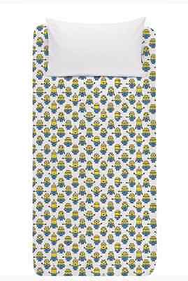 New | Official Despicable Me Minions Fitted Bed Sheet | Size Single