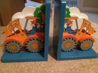 Tractor Wooden Book Ends