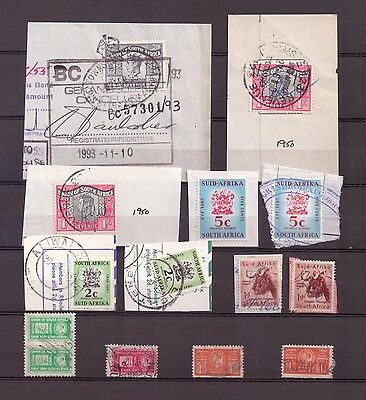 Union of South Africa - Revenue Stamps - Various Values