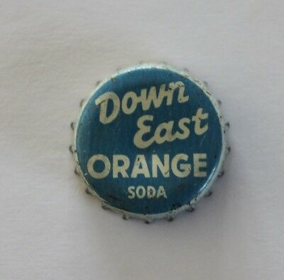 used bottle cap--Down East orange soda--cork-lined