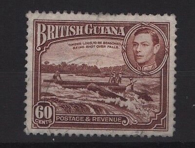 1938  SG315  BRITISH GUIANA   60c RED-BROWN  Very FINE USED