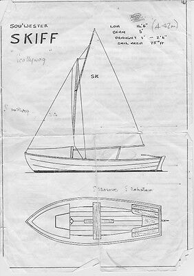 """Project - Sou'wester  14'-6""""  Skifff, Gaff Rig, + Rd. Trailer  Now Sold"""