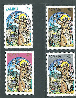 ZAMBIA 1980  - 50th Ann CATHOLIC CHURCH ON COPPERBELT - Set of 4  SG 325/8 - MNH