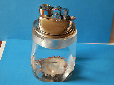 Vintage Prince Table Lighter Paperweight Old Oyster & Pearl