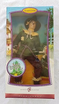 Barbie Collector Pink Label Wizard of Oz Movie Scarecrow Ken Doll New in Box