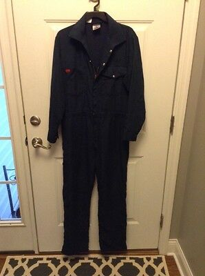 WORKRITE NOMEX DARK BLUE COVERALL'S 40R, FLAME RESISTANT, FRC, zipper legs
