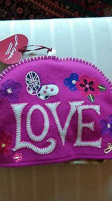 Jan Constantine Hand Embroidered Heirlooms Of The Future  Tea Cosy In Bright Pin