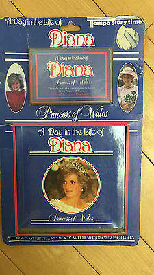 Princess Diana Day In The Life Cassette & Hardcover 1985 Still In Package Photos