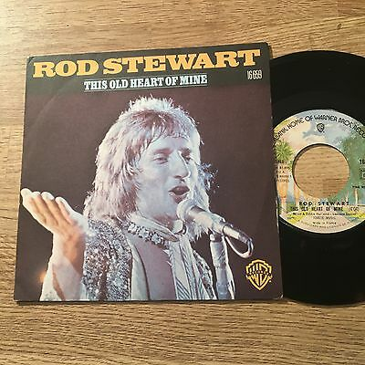 """French 7"""" Rod Stewart This old heart of mine / All in the name of rock'n'roll NM"""