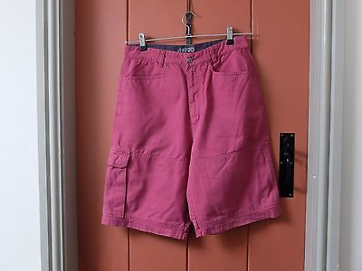 """MUSTO peached pink and navy cotton sailing cargo shorts - 30"""" waist"""