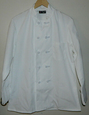 New White Plains Linen CHEF COAT Solid Long Sleeve Size 38