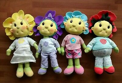 Fifi and the Flowertots and Friends - 4 soft dolls