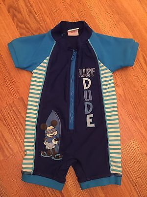 3-6 Boys Mickey Mouse  All In One Swimming Costume.