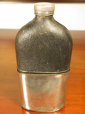Hip Flask Antique Sheffield Victorian Vintage Silver Plate English C1900