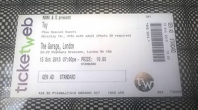 TOY - UNUSED GIG TICKET LONDON 2013 ! the horrors