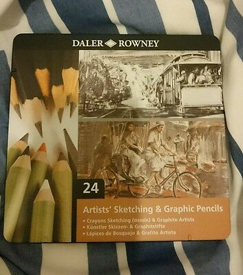 Daler Rowney 24 Artist's Sketching & Graphic Pencils