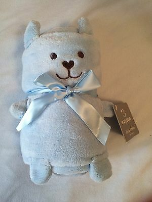Brand New With Tags Blue Baby Blanket Super Cute