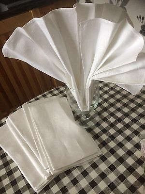 """Six  Linen Table Napkins Approx 19"""" Square"""