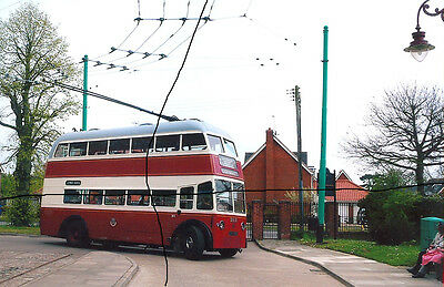 Bus Photo Of A Portsmouth Corporation Photograph Picture,double Deck Trolleybus.