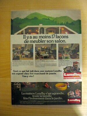 Lundby Dollhouse Vintage Page From A French Magazine Catalog