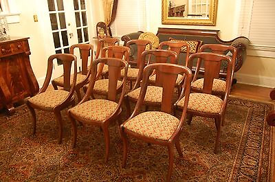 11 Vintage American Mahogany Empire style Baker Dining Room Chairs Mid Century