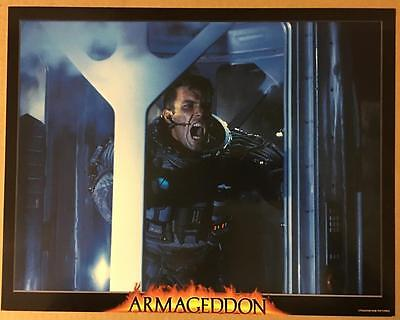 Someone has to stay behind on the asteroid to blow it Armageddon lobby card 1130