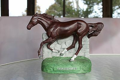 MIJ THOROUGHBRED horse porcelain decanter WESTERN DISTILLING- empty