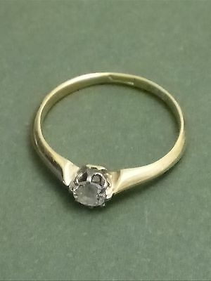 Single Diamond 18ct Gold Engagement Ring approx size J
