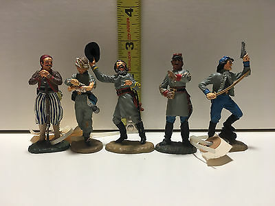 US Civil War, handpainted Pewter figures (5) - Franklin Mint