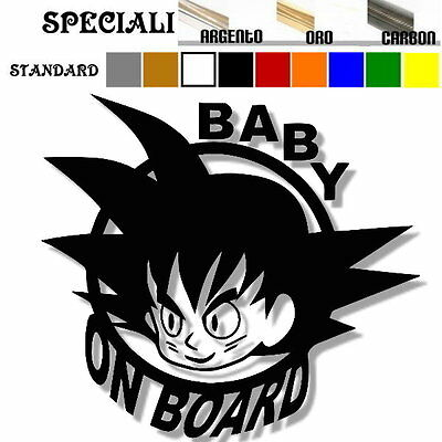adesivo sticker  BABY goku ON BOARD bimbo bebè a bordo personalizzabile
