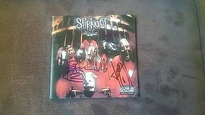 Slipknot cd sleeve signed by Paul Gray,Corey Taylor,Joey and James