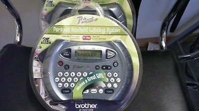 BROTHER P-Touch PERSONAL LABELER PT-70BM LABEL MAKER w/M Tape- Chrome Grey color