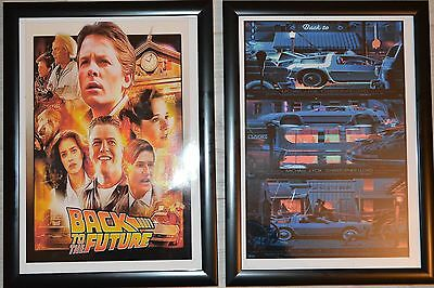 Back to the Future A4 Framed Pictures Set 3