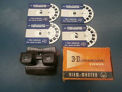 3D View Master And 4 Reels 1954