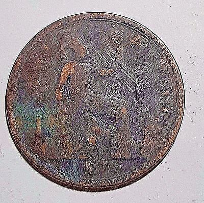 1875 One Penny Great Britain/UK Coin