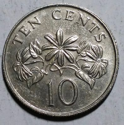 1987 10 Cents Singapore Coin