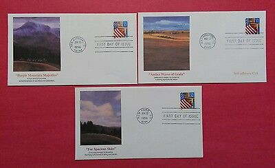 US FDC 1996 Flag Over Porch  Lot Of 3
