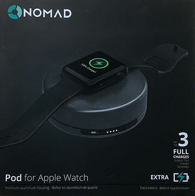 Genuine Nomad Charging Pod for Apple Watch - (pod-apple-s-001) Silver - New!