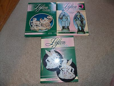 Lefton China Encyclopedia set by Loretta DeLozier Book 1,2, and 3