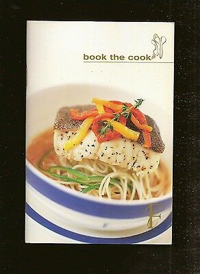 2002 Singapore Airlines Book The Cook Advance Meal Order Booklet 4 x 5 3/4 in