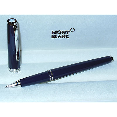 New Montblanc Pix Collection Blue/Platinum Rollerball Pen 114809 cruise variant