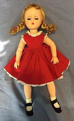 Madame Alexander, Lissy in Red School Dress, 1950s Vintage, Free Shipping