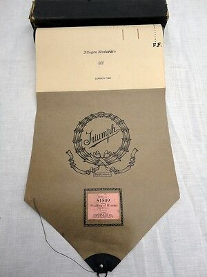 Pianola roll * Vintage Piano Roll * Wedding Of Hearts * Full Scale *