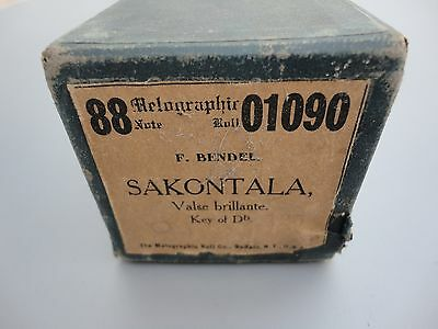 Pianola Roll * Vintage Piano Roll * Sakontala * 88 Note * F. Bendel *