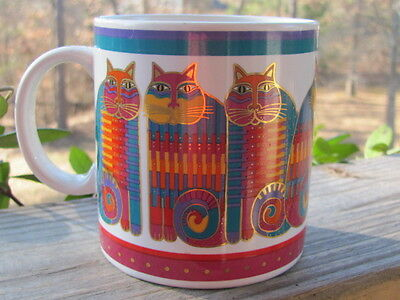 Laurel Burch~Rainbow Cat~Coffee Mug~Made In Japan~Vintage~1988