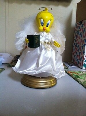 "Animated 12"" Tweety Bird Christmas Angel Warner Brothers Looney Tunes VTG 1999"
