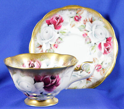 Royal Albert SUMMER BOUNTY SERIES PEARL Wide Mouth Bone China Cup Saucer