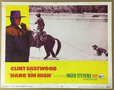 bad guy on horse drags Clint Eastwood  Hang 'Em High 1968 # 6  lobby card 1138